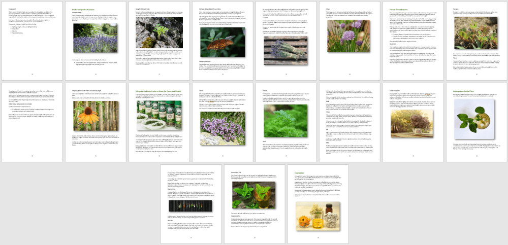 Growing Herbs for Health eBook PLR