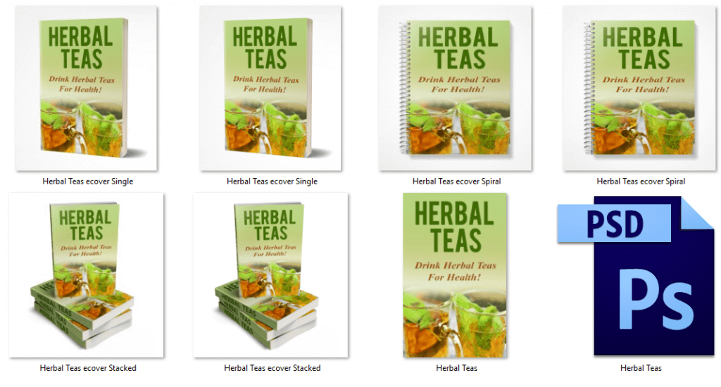 Herbal Teas Report eCover Graphics PLR