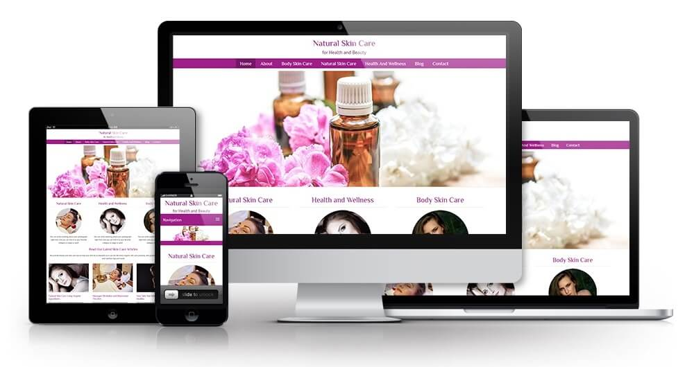 Natural Skin Care PLR Special Offer + Website Image