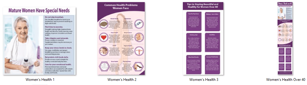 Women's Health Infographics PLR