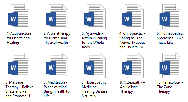 Alternative Therapies PLR Articles