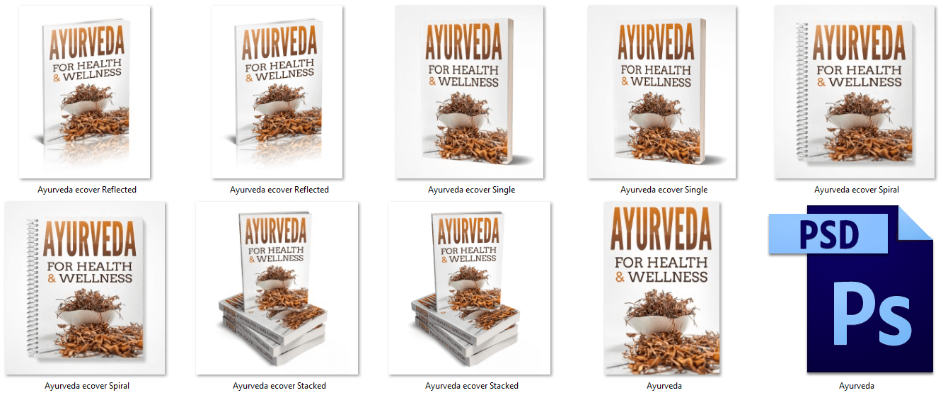 Ayurveda eBook Covers PLR
