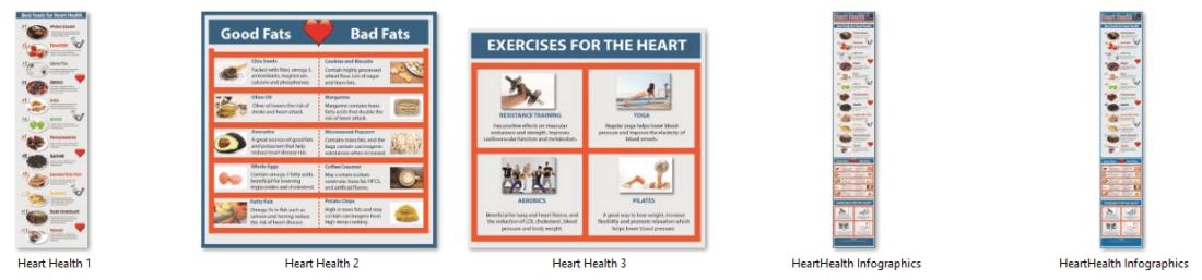 Heart Health Cholesterol PLR Infographics