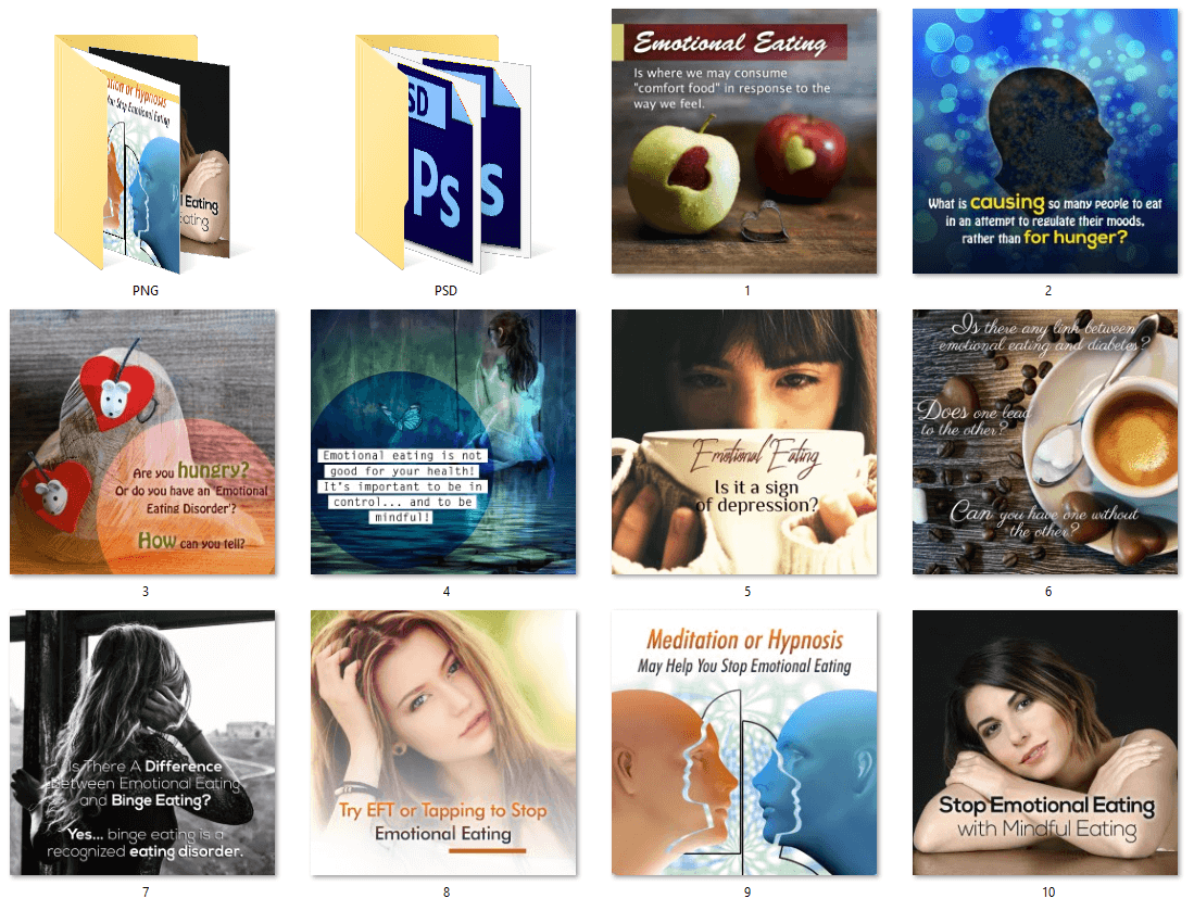 Emotional Eating PLR Social Posters