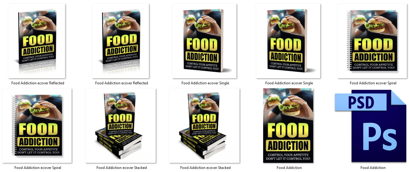 Food Addiction eBook Cover Graphics PLR