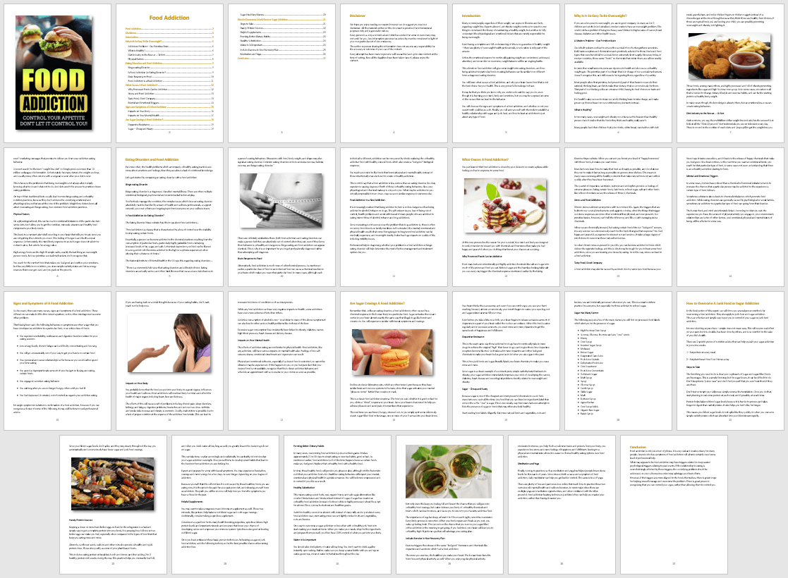 Food Addiction eBook PLR
