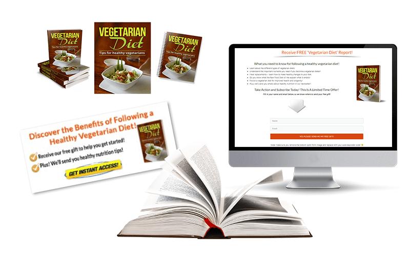 Vegetarian Diet ecover PLR