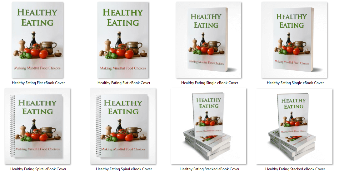 Healthy Eating PLR eCover Graphics