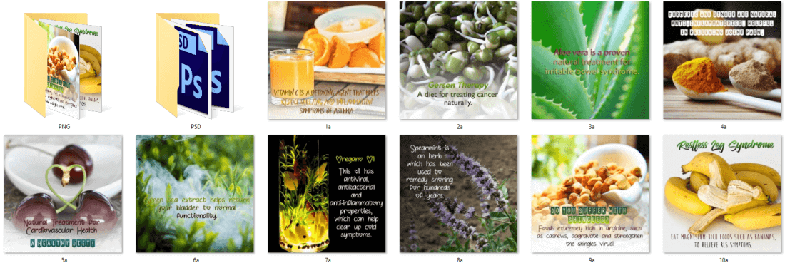 Alternative Health Social Posters PLR