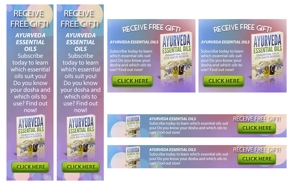 Ayurveda Essential Oil Banners