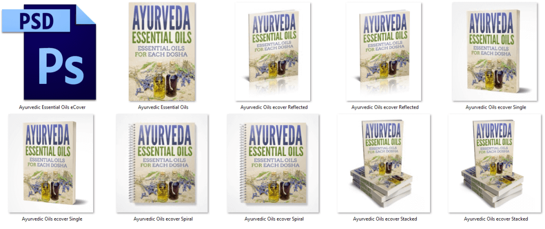 Ayurveda Essential Oils PLR eCovers