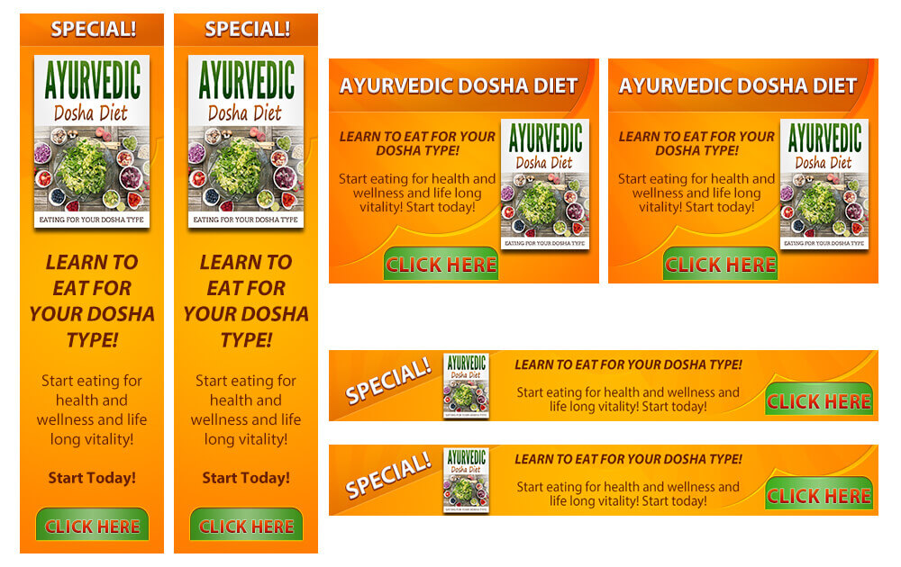 Ayurvedic Diet Banner Samples