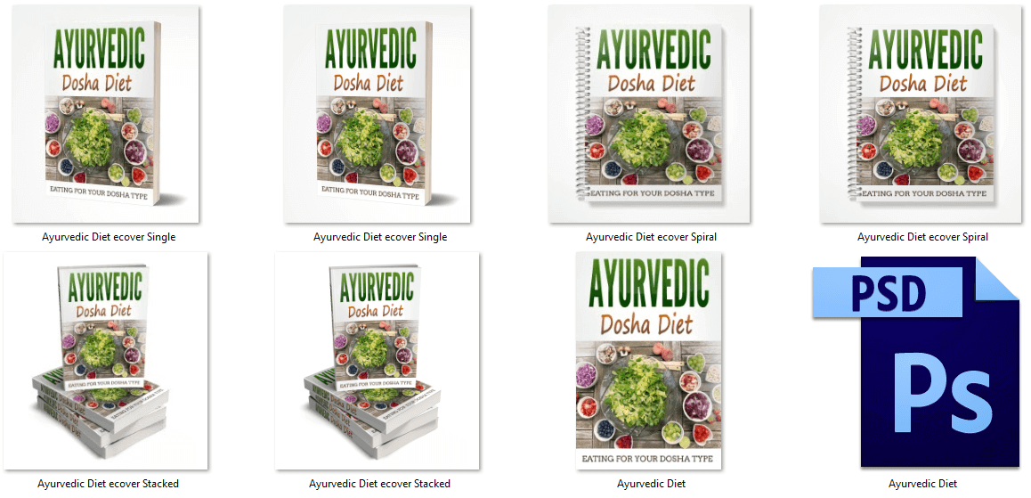 Ayurvedic Dosha Diet PLR eBook Covers