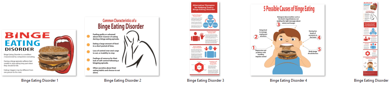 Binge Eating PLR Infographic