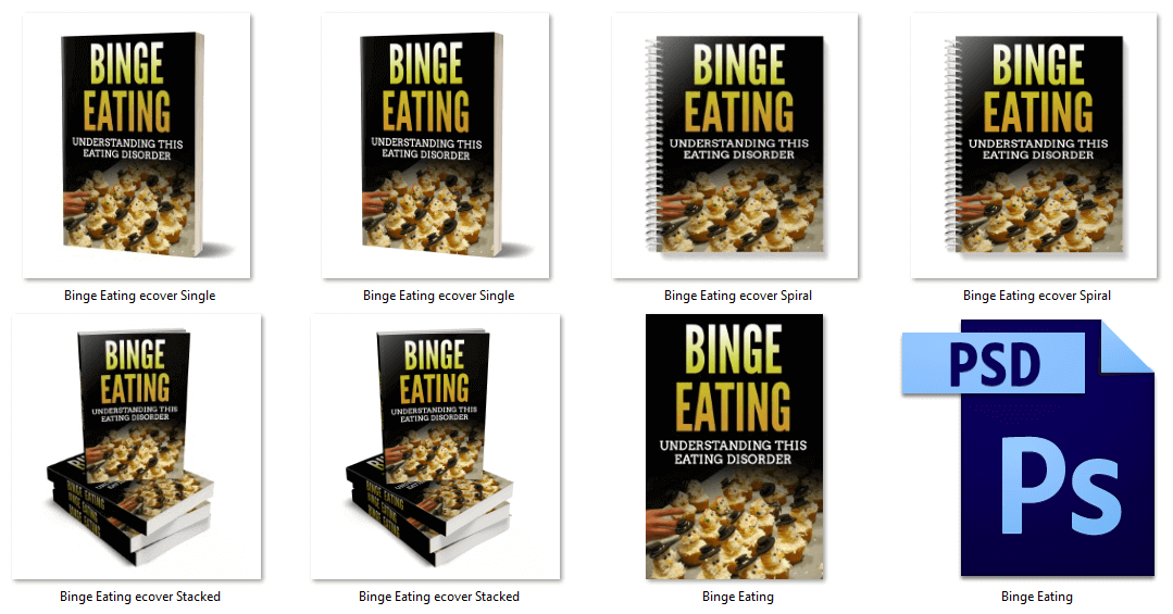 Binge Eating PLR eBook Covers