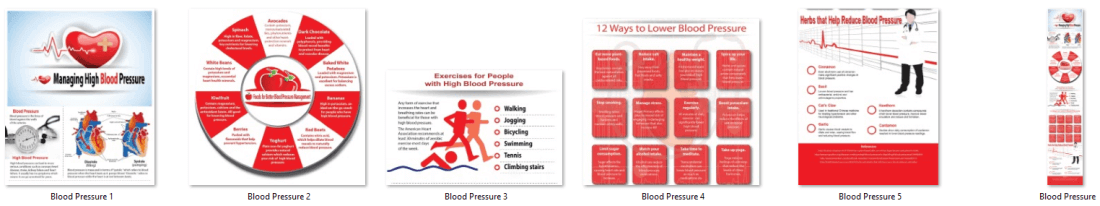 Blood Pressure PLR Infographics