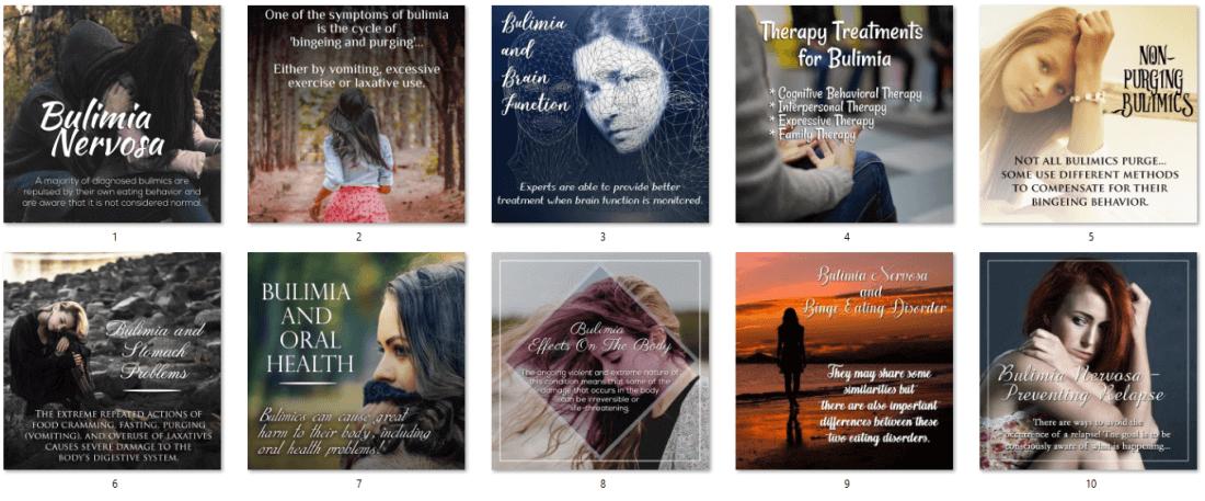 Bulimia Nervosa PLR Posters