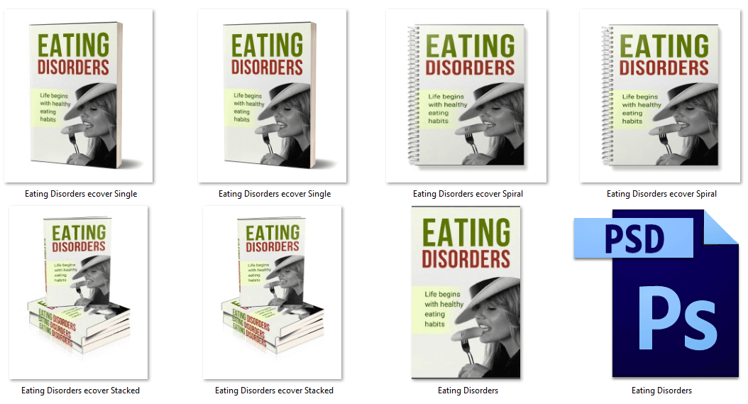 Eating Disorders PLR Report Graphics