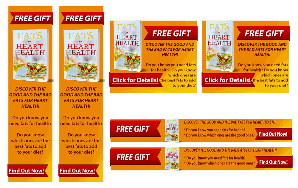 Fats for Heart Health PLR Banners