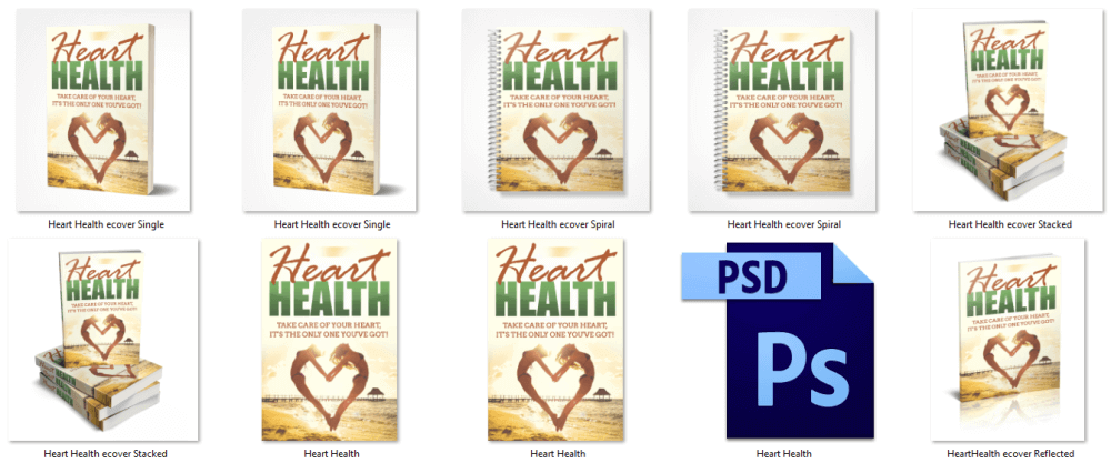 Heart Health PLR eBook Covers