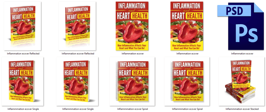Inflammation and Heart Health PLR Report eCovers