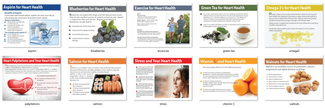 Mini Heart Health Cholesterol PLR Infographics