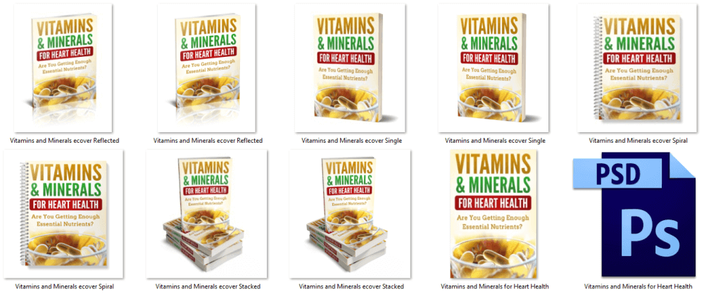 Vitamins and Minerals Heart Health PLR Report Cover