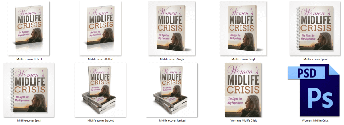 Graphics for Midlife Crisis PLR Report