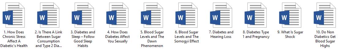 Diabetes PLR Articles Pack 2