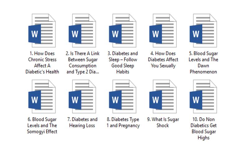 Diabetes PLR Pack 2