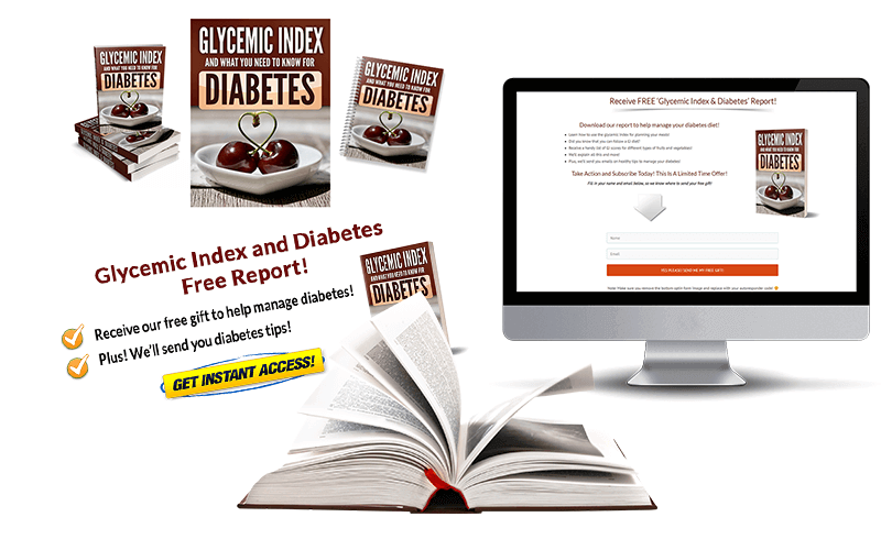 Glycemic Index and Diabetes Squeeze Page and CTA Mockup