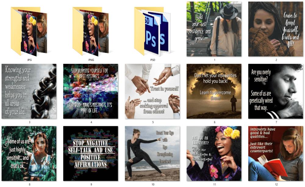 Self Help Social Posters