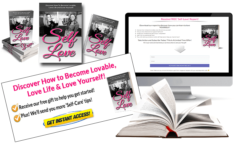 Self Love Squeeze Page and CTA Mockup