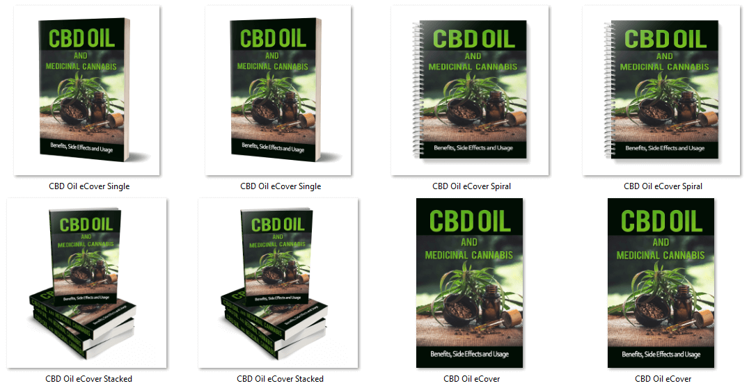 CBD Oil and Medicinal Cannabis PLR Report eCovers