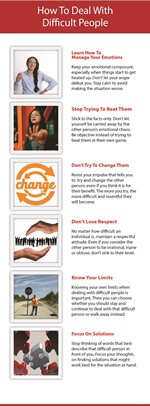 Dealing with Difficult People PLR Infographic