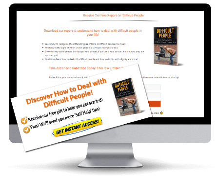 Dealing with Difficult People PLR Squeeze Page