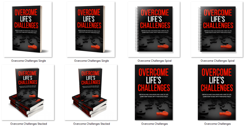 Overcome Life's Challenges PLR eCover Graphics