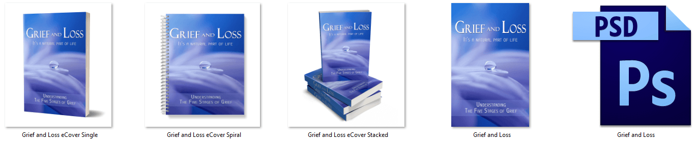 Grief and Loss PLR Report eCover Graphics