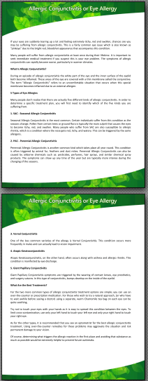Allergy PDF Sample