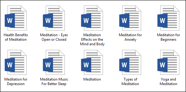 Meditation PLR Articles