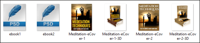 Meditation PLR eCovers