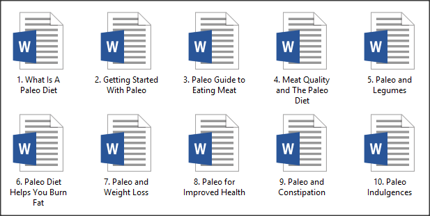 Paleo Diet PLR Articles