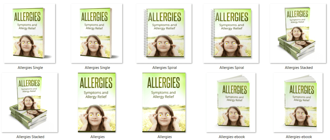 Allergies PLR eCover Graphics