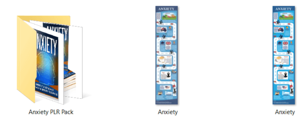 Anxiety PLR Graphics