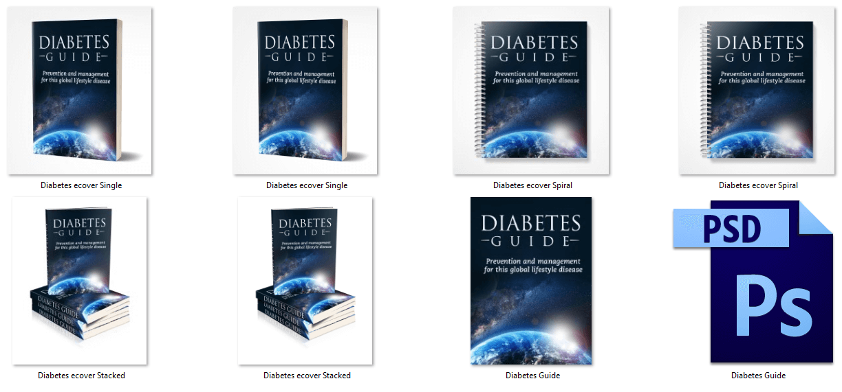 Diabetes PLR eBook Cover Graphics