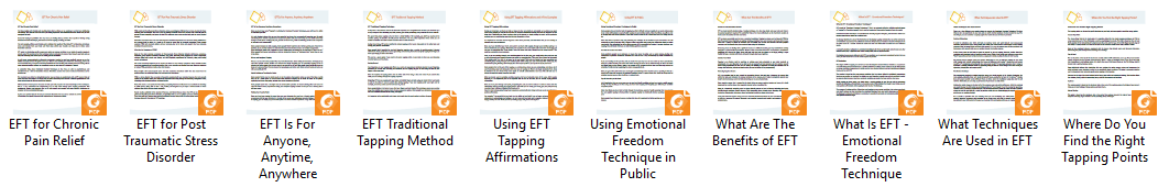 EFT Tapping PLR Articles