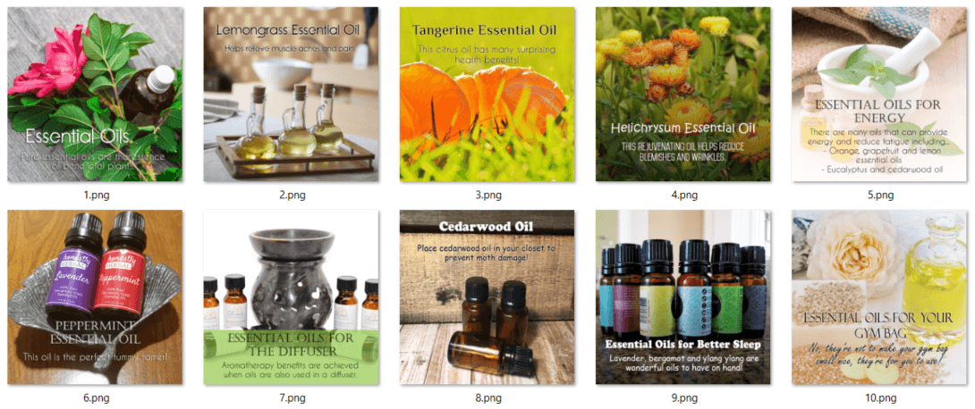 Essential Oils PLR Social Posters