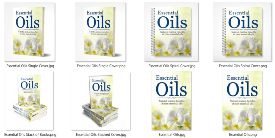 Essential Oils PLR eCovers