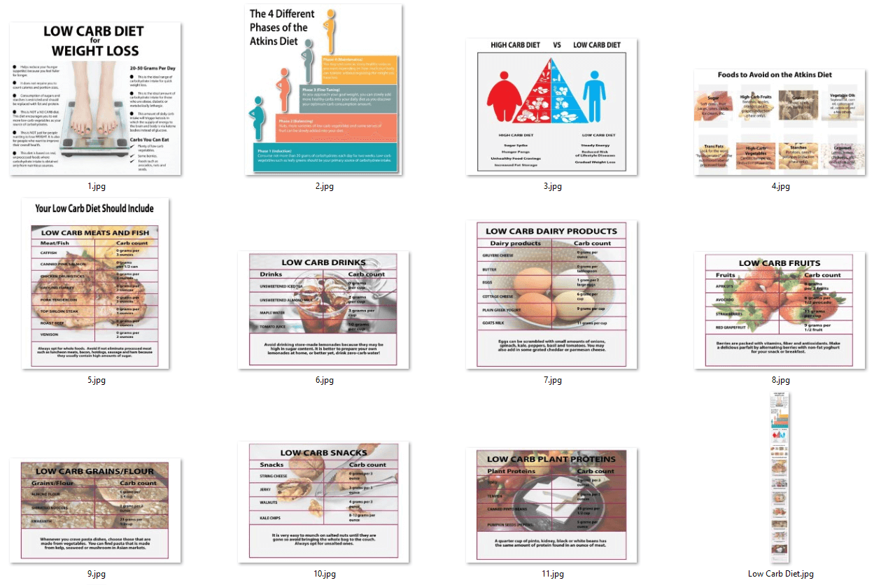 Low Carb Diet PLR Infographics