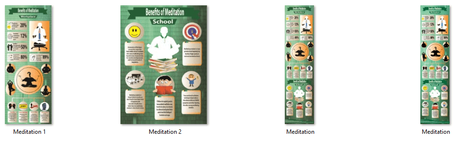 Meditation PLR Infographic